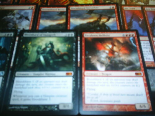 MTG Magic BLOODTHIRSTY DECK M12 SoM ISD Mythic Vampire Dragon Themed Custom Lot