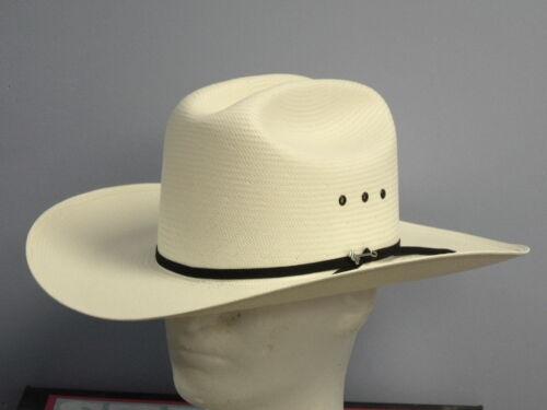 STETSON 10X RANCHER SHANTUNG PANAMA STRAW COWBOY WESTERN HAT