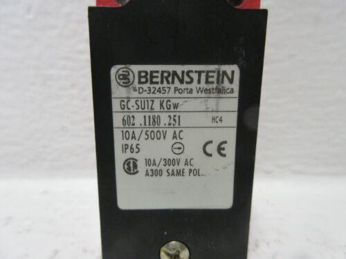 Details about  /BERNSTEIN GC-SU1Z KGW NEW-NO BOX LIMIT SWITCH W// ROLLER PLUNGER GCSU1ZKGW