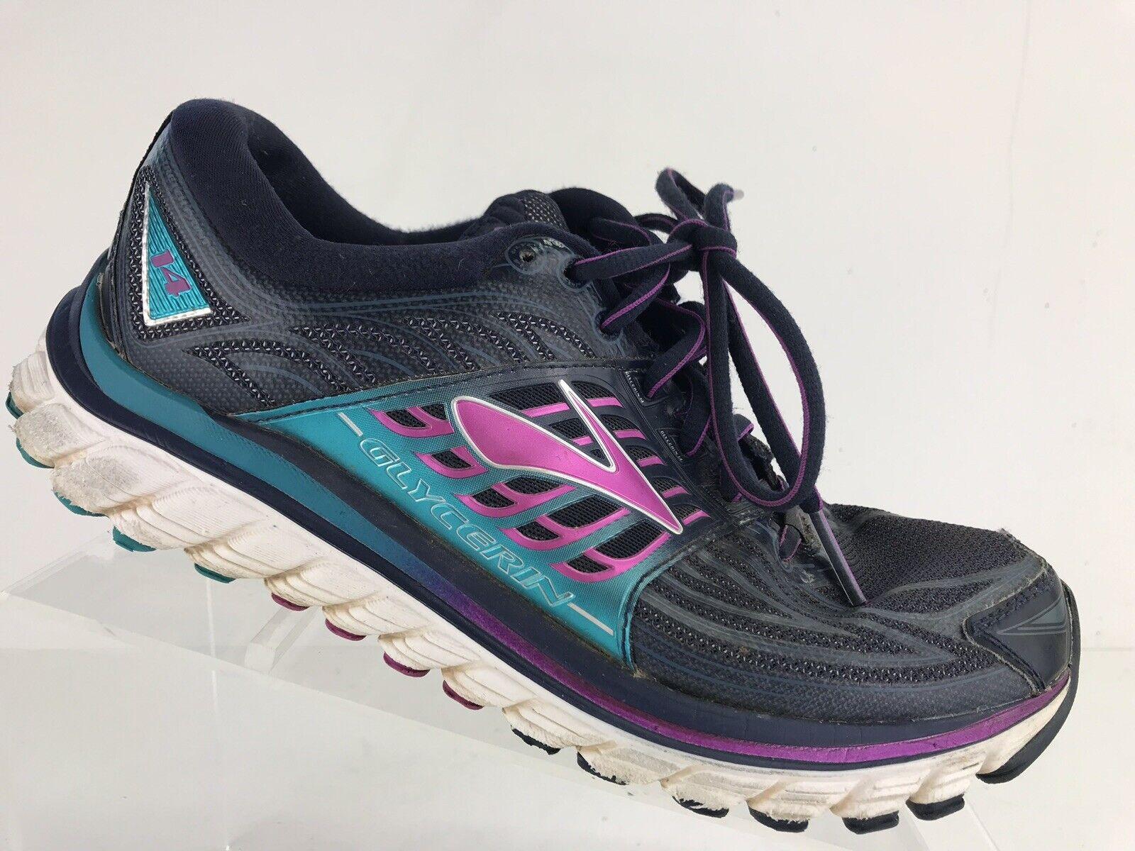 Brooks Glycerin 14 bluee Purple 1202171B413 Athletic Running shoes Women's 7.5 B