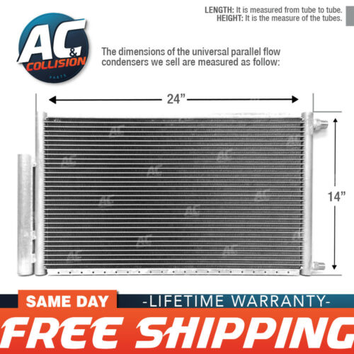 CNFP1424RD A//C Universal Condenser Parallel Flow 14 x 24 O-ring #6 And #8 w//Dri