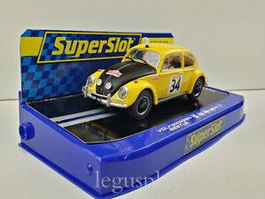 Slot Car Scalextric Superslot H3412 Volkswagen Beetle B.Beales 1990 Montecarlo