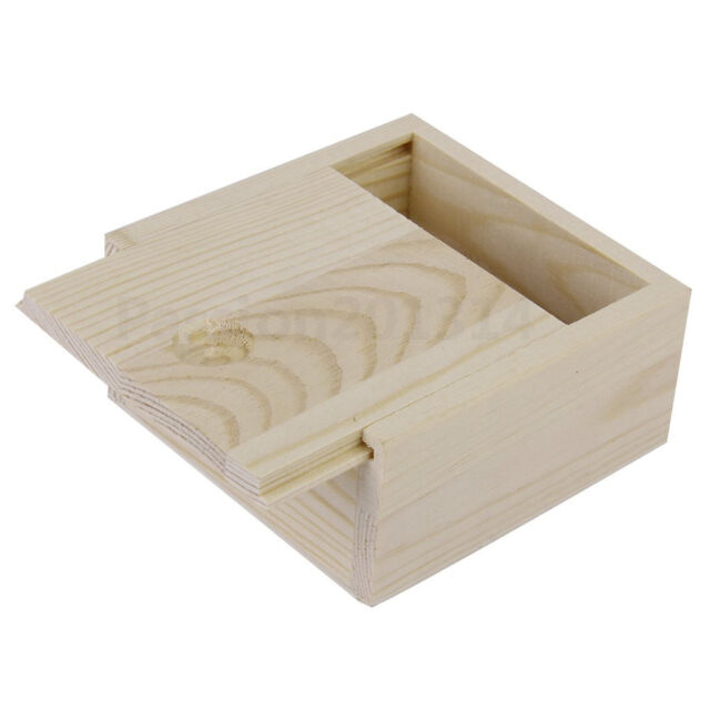 New Small Plain Wooden Case Storage Box For Jewellery Small Gadgets Gift Wood
