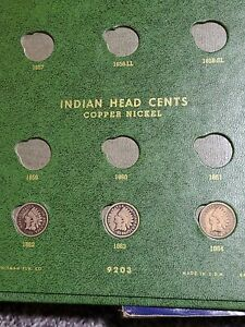 CLASSIC-GREEN-WHITMAN-FLYING-EAGLE-INDIAN-CENTS-9203-22-COINS