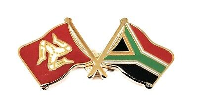 Isle of Man /& South Africa Pin Badge FREE UK Delivery