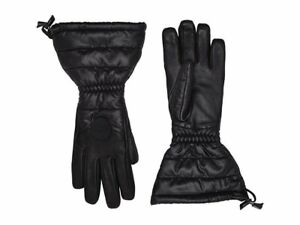 WOMENS-S-M-BLACK-UGG-17415-QUILTED-LONG-WINTER-GLOVES-retail-at-130-worn-once