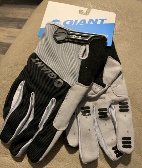 Men Giant Bike Road Cycling Gloves Extra Large XL Pair Gray Black Free SH
