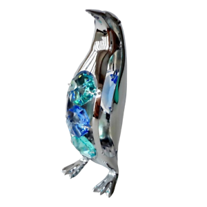 Crystocraft-Penguin-Crystal-Ornament-With-Swarovski-Elements-Gift-Boxed-Blue