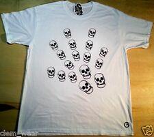 Calaveras Mano Camiseta Clem Wear única de L Para Hombre BNWT Skater Bmx Street