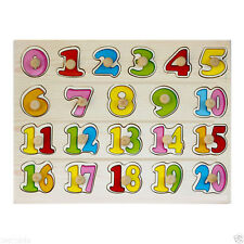 0-20 Wooden Number Puzzle Board for kids, Learning Educational Maths Toys kids