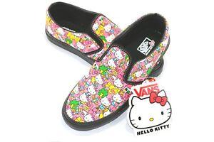 Vans CLASSIC SLIP-ON Hello Kitty Black Pink Youth VN-0LYGL8R (326 ... bdbd420f0