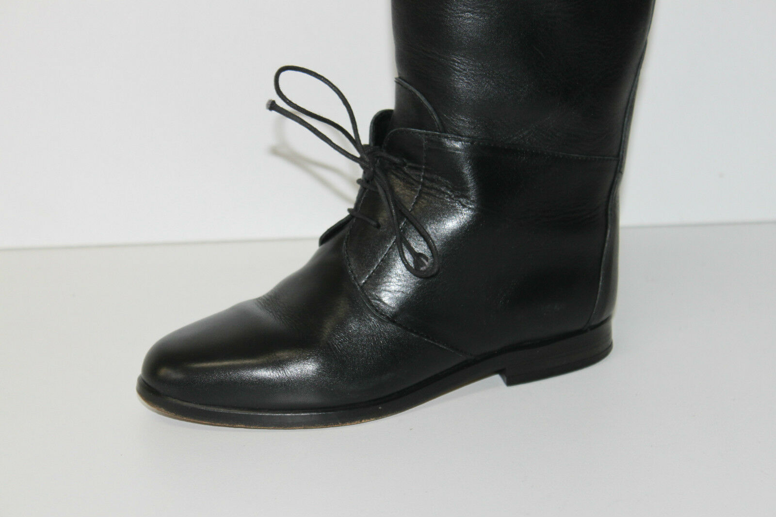 SAGONE Riding Boots Boots Boots All Leather Black T 34 TOP CONDITION dfc7cb