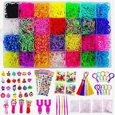 Great Gifts for Girls and Boys No Loom Board Included. Cokoka Rainbow Rubber Bands Bracelet Making Kit with Loom Bands Storage Container