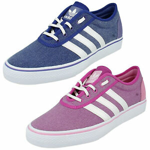 WOMENS ADIDAS LACE UP CASUAL CANVAS TRAINERS SHOES ORIGINALS ADIEASE
