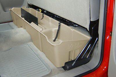 DU-HA 10003 Underseat Storage Gun Case GearBox 1999-2007 Chevy Silverado Ext Tan