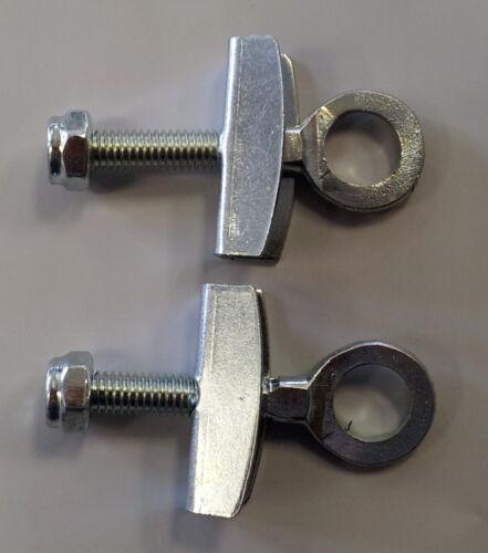 "FIXIE BMX REAR WHEEL Chain Tensioner Adjusters Pair Set Fixie BMX 3//8/"" AXLE NEW"