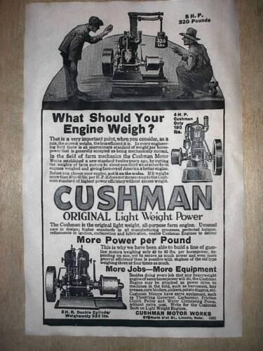 "218 VINTAGE REPRINT ADVERT CUSHMAN GASOLINE ENGINE 11/""x17/"""