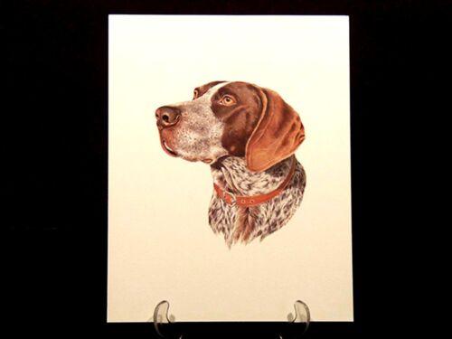 """11/""""x14/"""" Dog Print German Shorthair Roger Cruwys"""