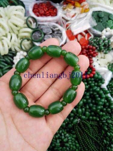 Fine natural green jade accessories  jade bracelet 路路通