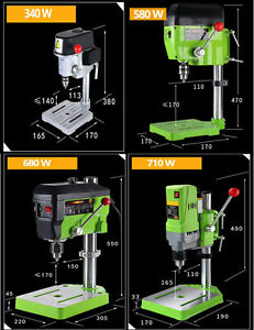 Details About 340w 580w 680w 710w Drill Press Bench Stand Table Diy Mini Metal Wood Drilling