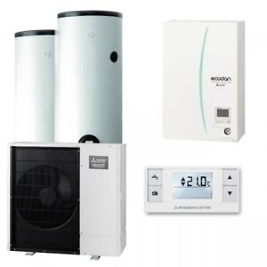 mitsubishi heating pump puhz-sw75vha+ehsc-vm6ec set hydromodul with