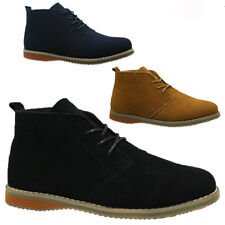 NEW MENS SUEDE WINTER CASUAL LACE UP FASHION BOOTS ANKLE DESERT TRAINERS SHOES