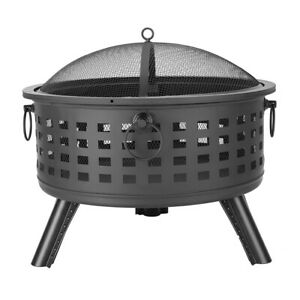 "26"" Lattice Fire Pit Outdoor Wood Burning Firepit Bowl for ... on Zeny 24 Inch Outdoor Hex Shaped Patio Fire Pit Home Garden Backyard Firepit Bowl Fireplace id=93980"