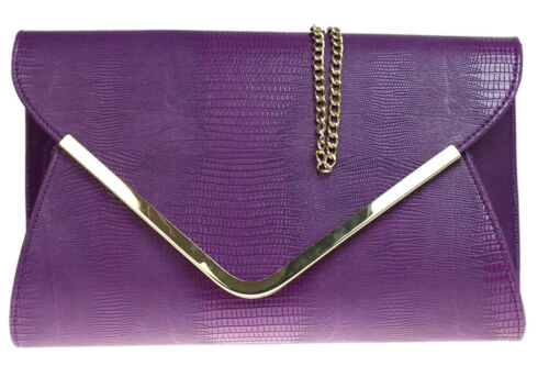 New Animal Print Croc Envelope Clutch Bag Designer Envelope Womens Handbag Prom