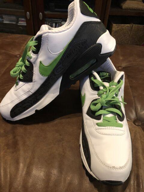 Nike Air Max 90 Premium Leather Rejuvenation 11.5 White Green 313521 131 97 360