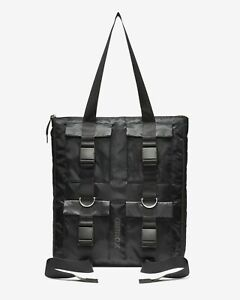 Details About Nike Air Max Black Tote Bag Ba5852 010 Travel Work College Utility Pockets