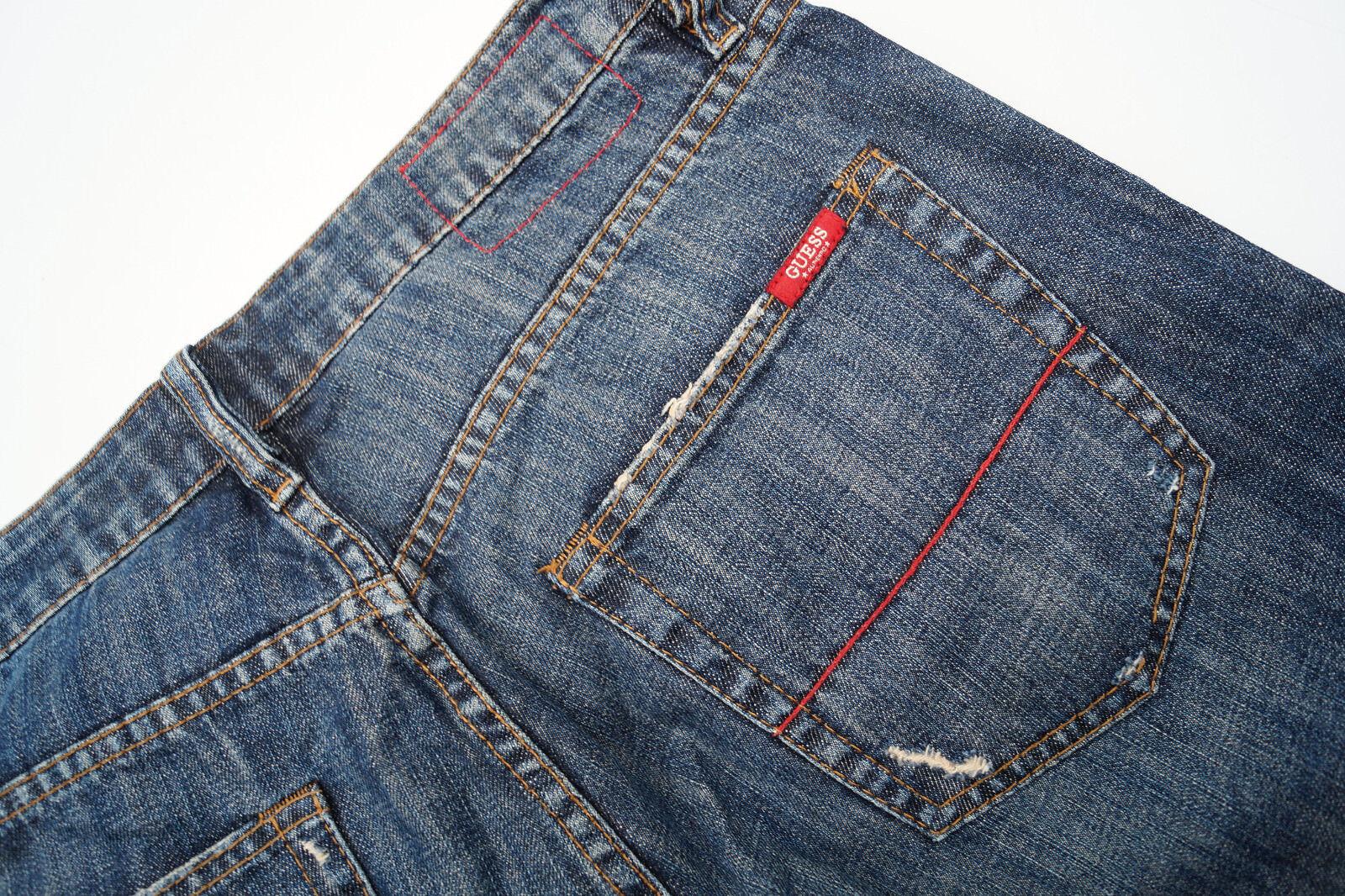 GUESS Sunset Herren Men Jeans Hose 31 34 W31 L34 stone wash blau used Risse  N  | Ausgezeichnetes Handwerk  | Ausreichende Versorgung  | Deutschland Berlin