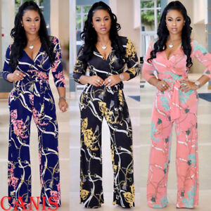 7899bd3c4ee9 Image is loading Womens-Clubwear-Playsuit-Bodysuit-Party-Jumpsuit-Romper -Floral-