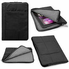 Black Pouch Sleeve Case for Samsung Galaxy Tab 4 10.1 / Tab A / Tab S2 9.7