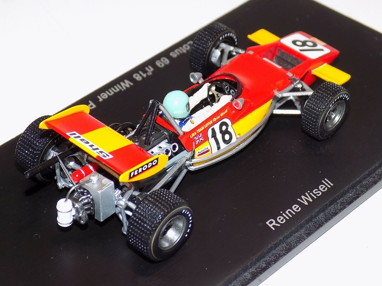 1 43 43 43 Spark Lotus 69 F2 car Winner of Pau GP 1971 Reine Wisell S2147 73b65b