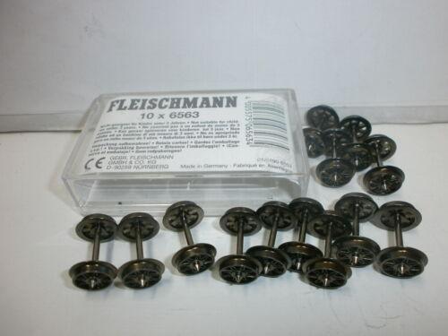 Liasse 13 x FLEISCHMANN 6563 Piste h0 courant alternatif double rayons essieu neuf dans sa boîte