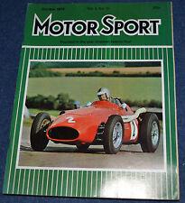 Motor Sport October 1974 Ferrari Dino 308 GT4, Maserati 450S V8,Salmson