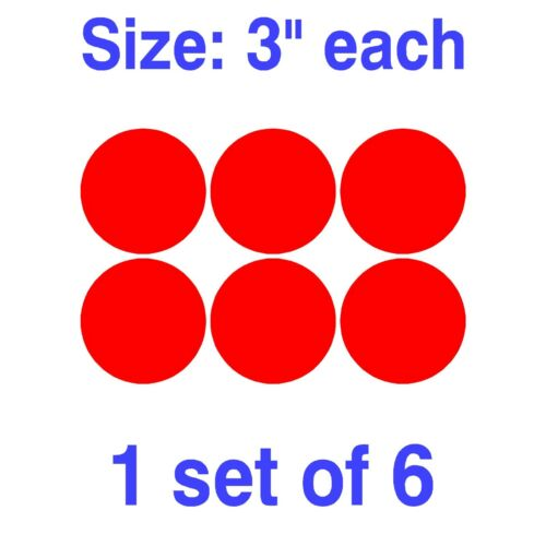 "Dot Circle Decal Vinly Sticker Polka 1/"" 1.5/"" 2/"" 2.5/"" 3/"" 3.5/"" 4/"" 4.5/"" 5/"" 5.5/"""
