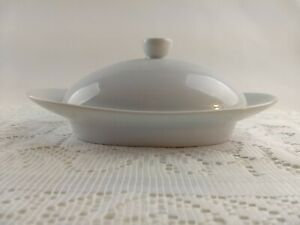 Food-Network-White-Serveware-Oval-Butter-Dish-and-Lid-Covered