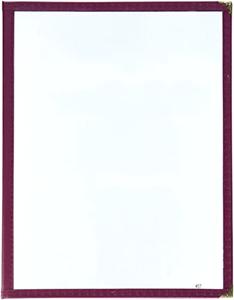 Winco Double Fold Menu Cover Burgundy 12-Inch x 9.5-Inch