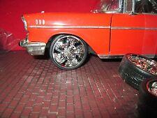 "1 SET of 1/18 wheels custom dub 24"" spinners wheels tires diorama customize #1"