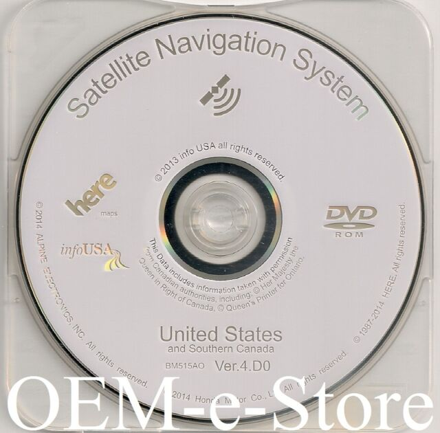 2007 2008 Acura TL & TL Type-S Navigation DVD Map Version