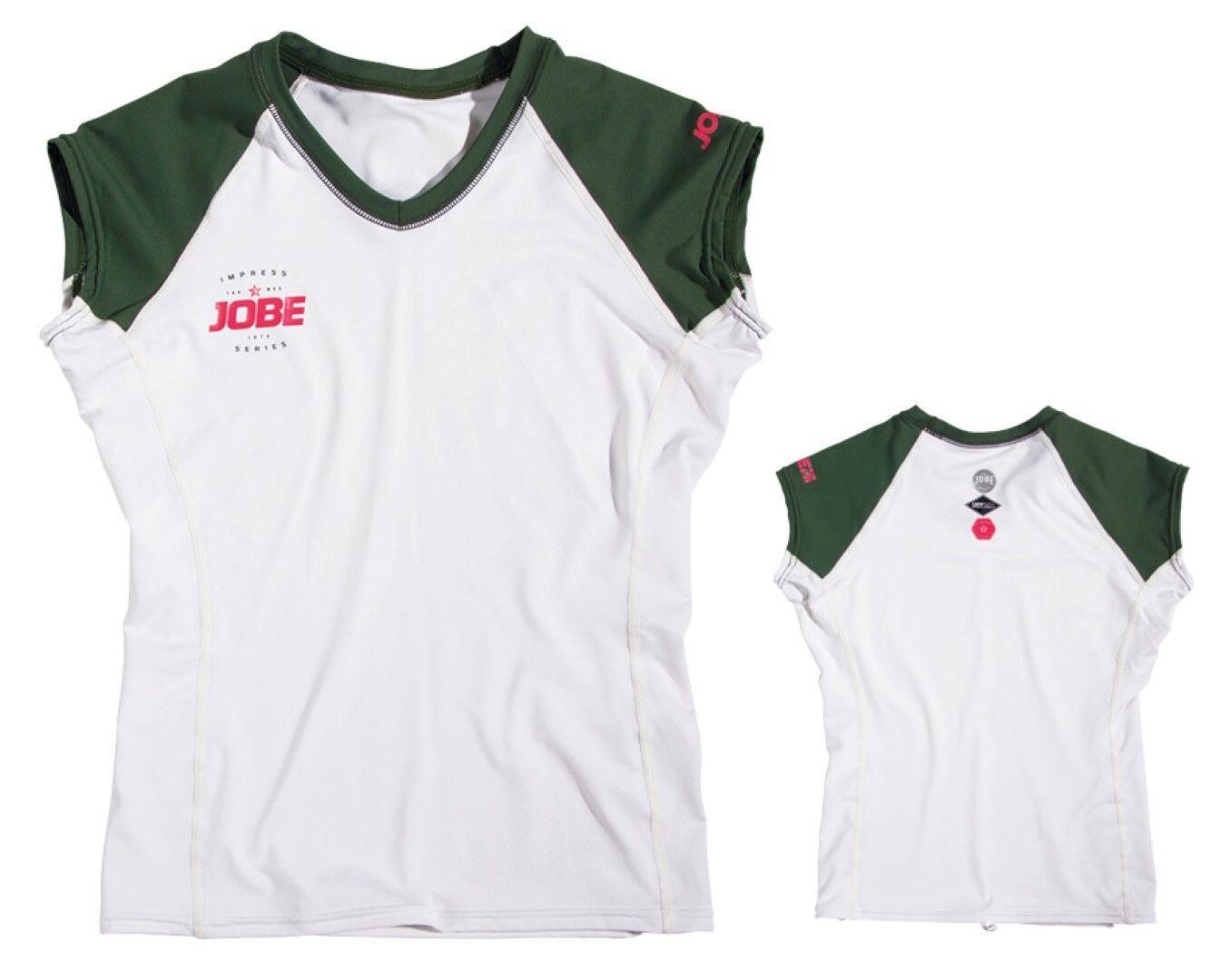 Impress Guardia de Erupción Cuello Pico Mujer blanco Lycra Camiseta Esquí Cometa