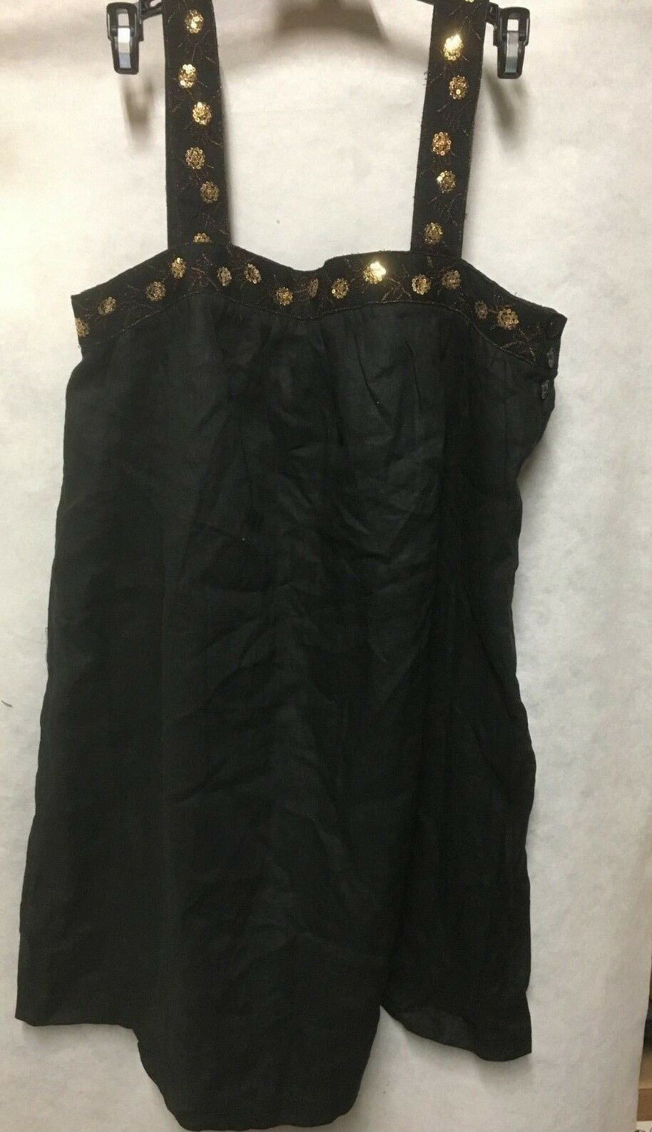 Grace Elements Embellished Linen Summer Strap Dress size 8