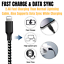 thumbnail 6 - 3 Pack 6Ft USB Charger Cable For iPhone 11 XR 8 7 Plus Fast Charge Charging Cord