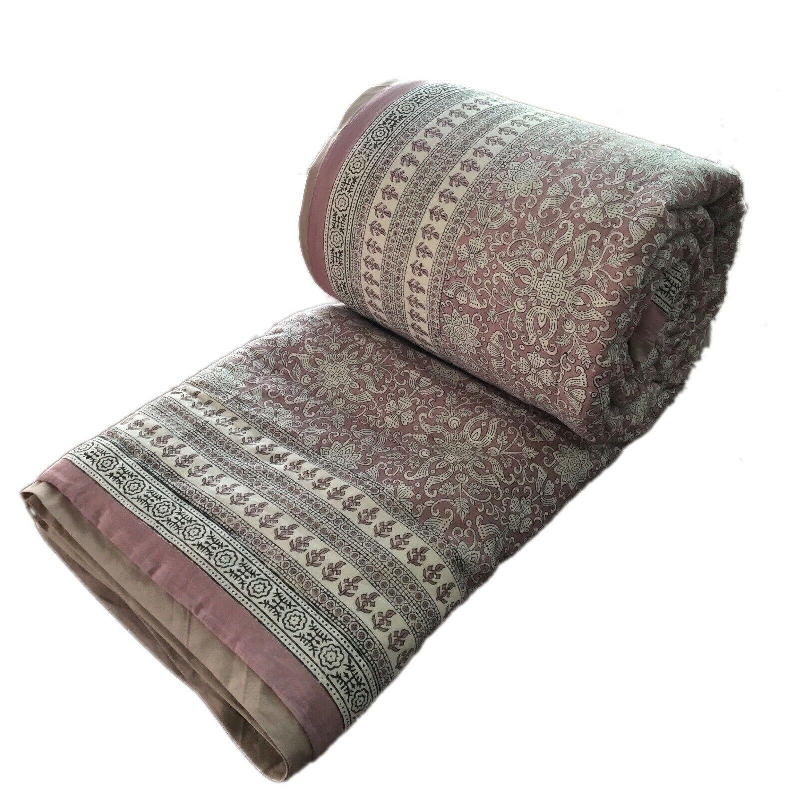 Anokhi 70 x108  Soft purple Quilt, Reversible, 100% Cotton