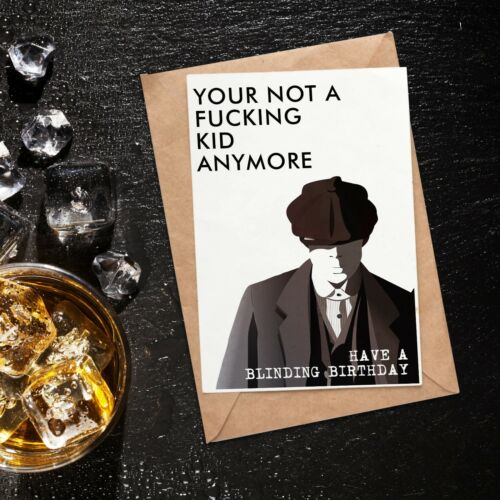 Birthday Card /& Glass Tumbler Great Gift For Him Her Or Any Peaky Blinder