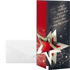 DS012 Sigel Weihnachts-karten Pleasure Rot- Goldprägung