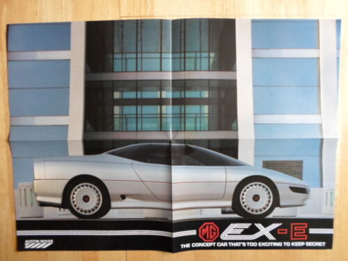 MG EX-E concept car original 1985 UK Marketing Factory dépliant promotionnel-MGF
