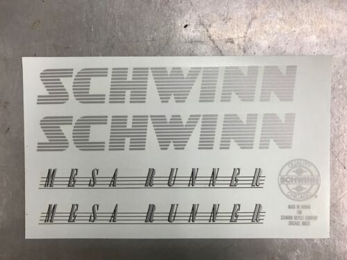 Schwinn Mesa Runner Decals