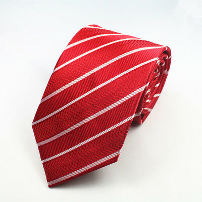 Black Tie White and Red Patterned Handmade 100/% Silk Skinny Wedding Necktie